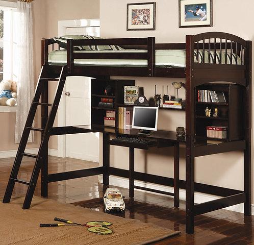 460063 Twin Workstation Loft Bed