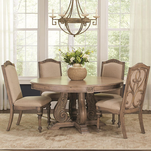 122210 Traditional Round Dining  Set