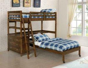 460575 Twin & Twin Workstation Loft Bed