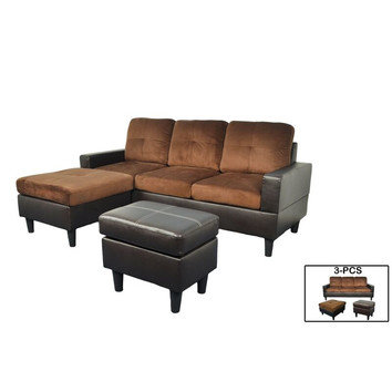 F071 Chocolate Sectional