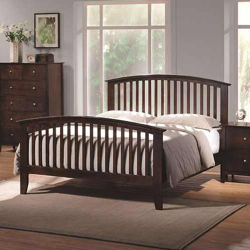 202081 Bed with Tapered Legs