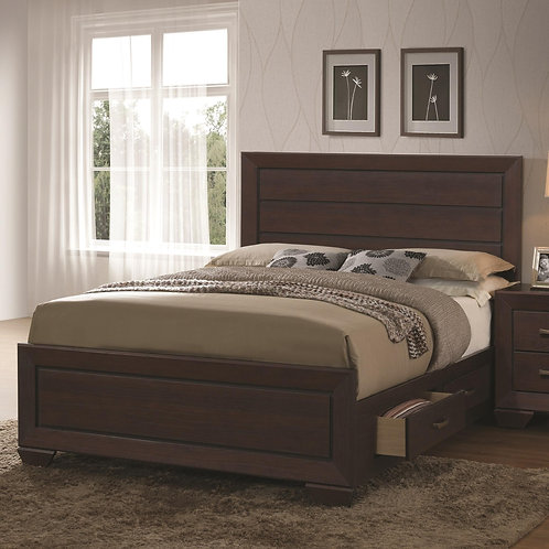 204390 Transitional Bed with Storage Drawers