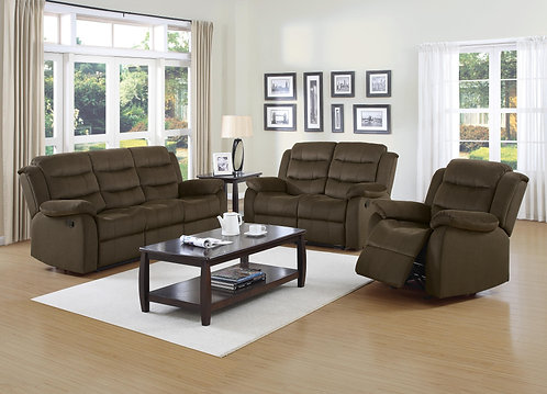 601881  2pc Sofa & Loveseat Recliners