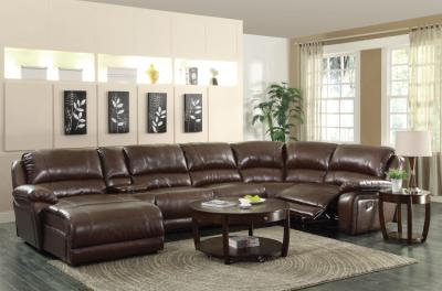 600357 6pc Reclining Sectional