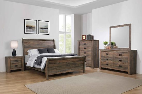222961 Rustic Sleigh Bed