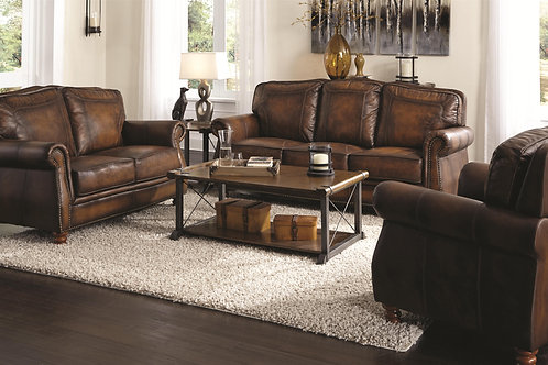 503981 2pc Leather Sofa & Loveseat