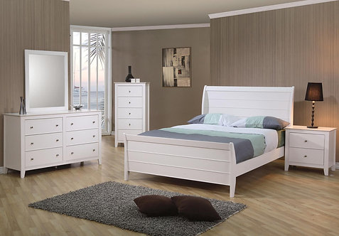 400231 Sleigh Bed with Panel Detail