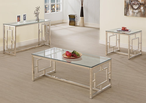 703737 Contemporary Metal Coffee Table