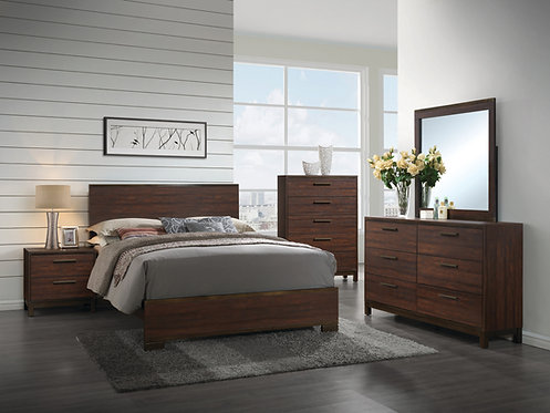 204351  Rustic Bed