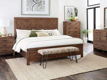 215731 Modern Rustic Bed