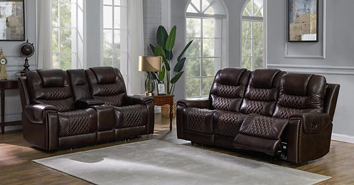650401pp Dual Power Sofa & Loveseat