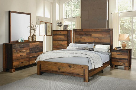 223141 Wooden Bed