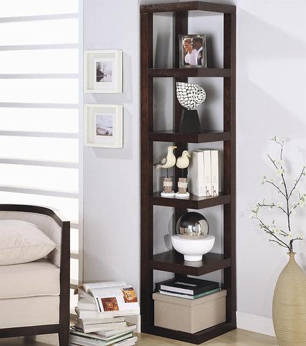 800268 Corner bookcase