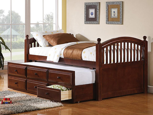 400381 Twin Captin Bed w/ Trundle