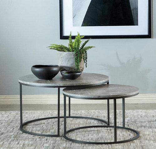736028 2pc Nesting Coffee Table
