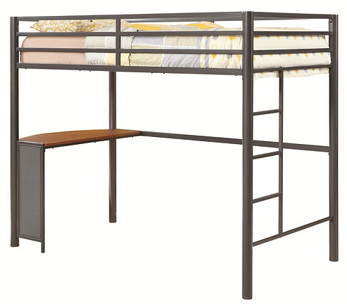 460229 Twin Metal Workstation Loft Bed