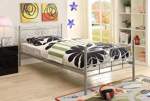 400154 Twin Metal Bed