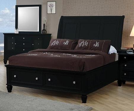 201329 Sleigh Bed w/ Storage