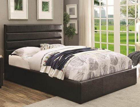 300469 Leatherette Upholstered Bed