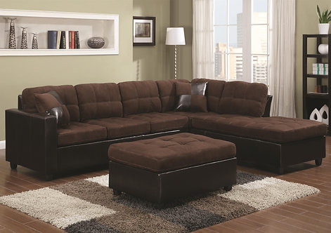 Mallory Reversible Sectional with Casual and Conte