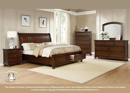 B125 4pc Queen Storage Bedroom Set