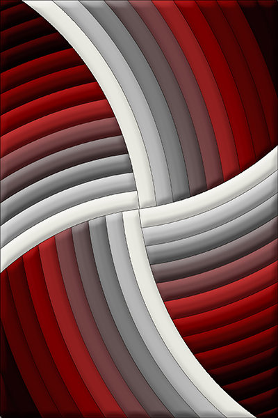 3DZ009B10 Black red white