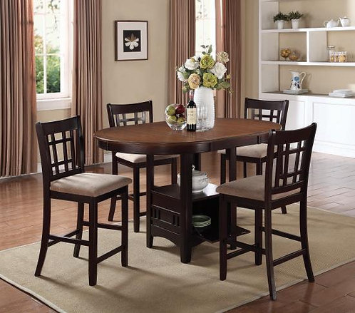 105278 5pc Counter Height Dining Set