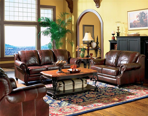 500661 2pc Leather Sofa & Loveseat