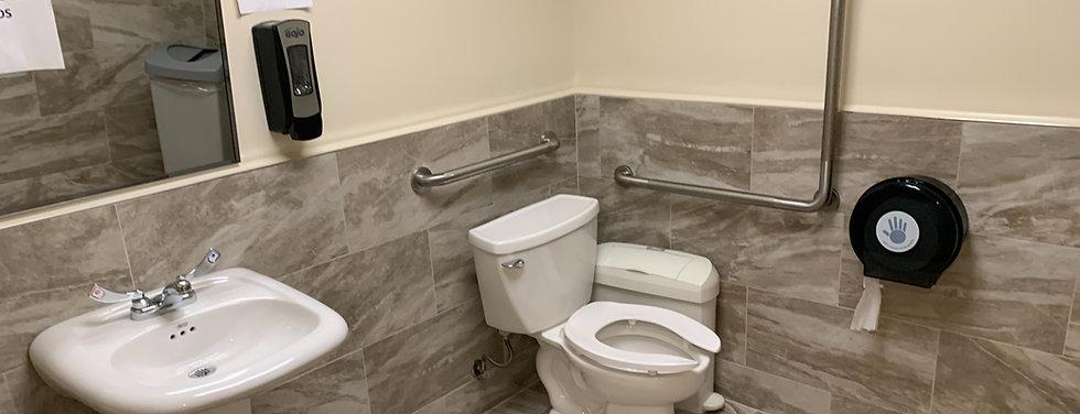 Accessible washroom commercial CMHA Oshawa