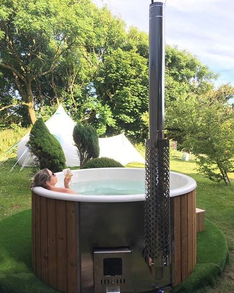 Have a relax in our woodfired hottub