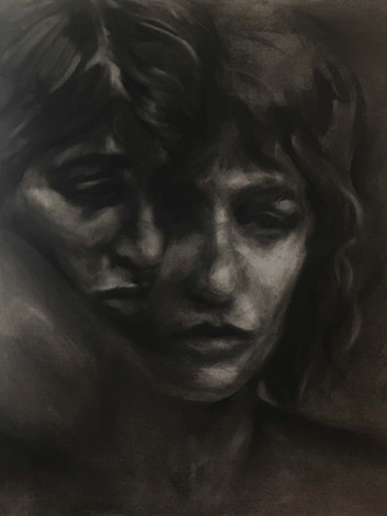 Sisters - charcoal
