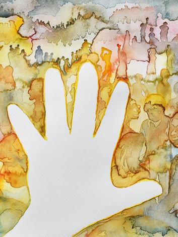 Mano - watercolor
