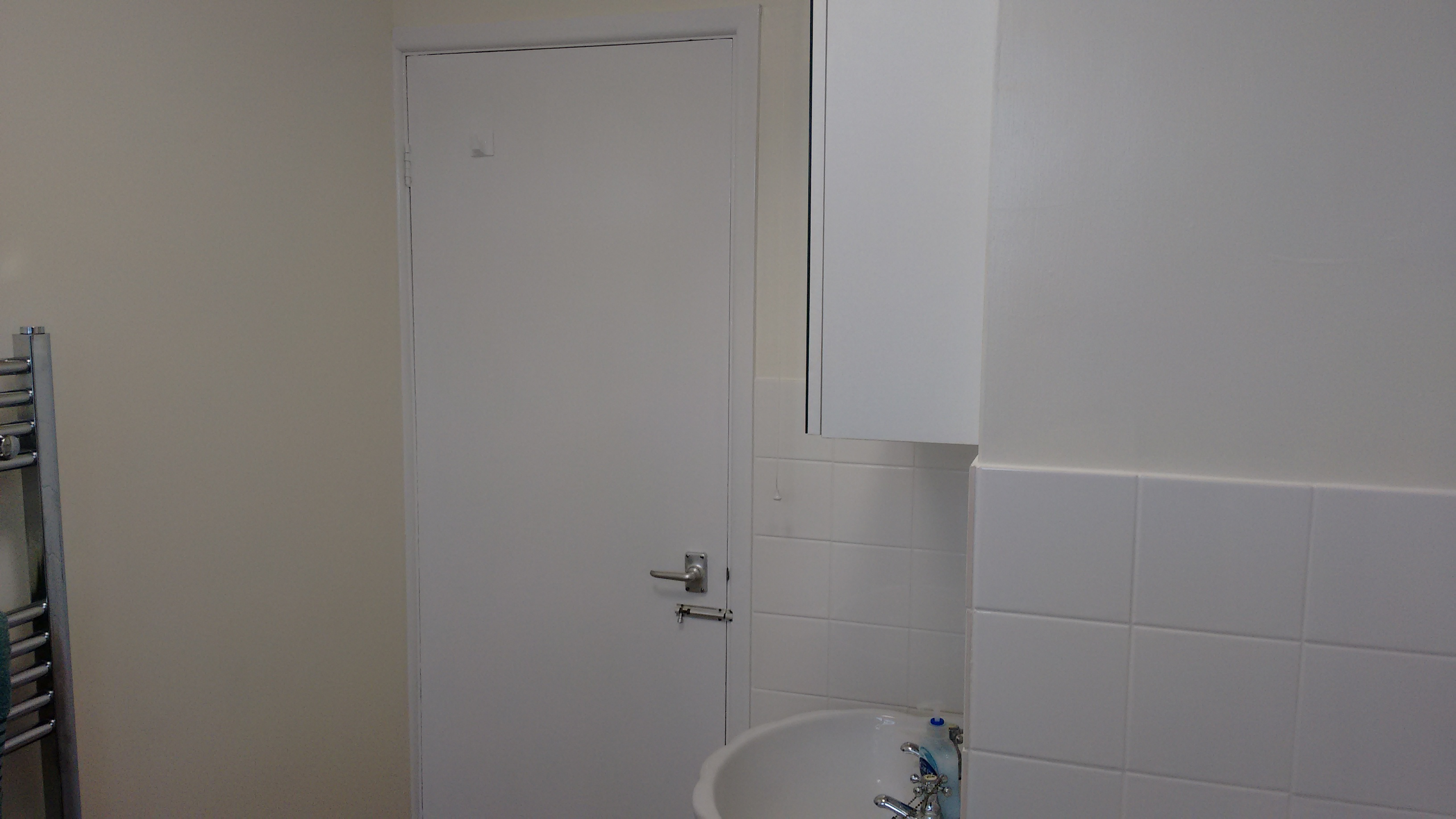 A much more modern bathroom!