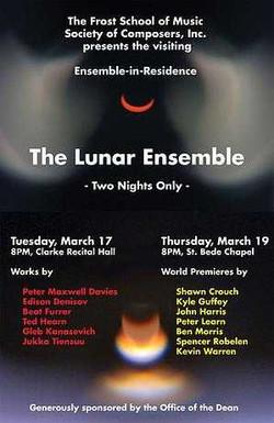 Lunar Ensemble concert flyer