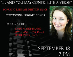 Whitman Songs at Smeltzer Concert