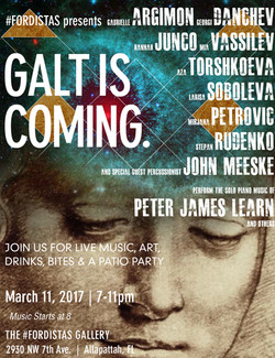 Galt promo concert poster