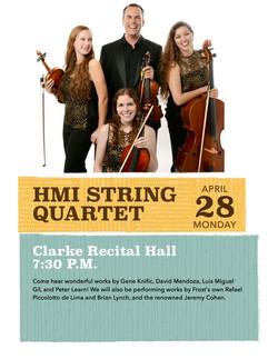 HMI Quartet 2014 concert poster