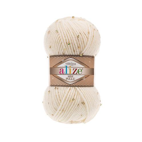 Alize Superlana Midi Pullu Light Cream 62