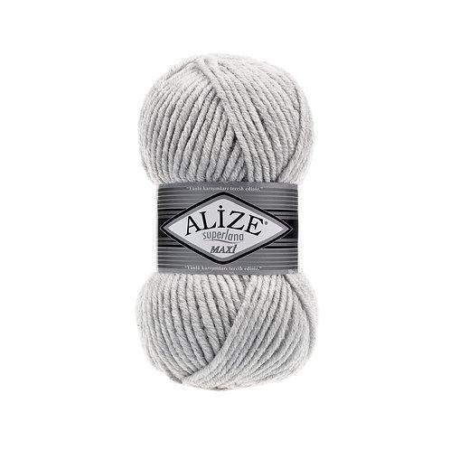 Alize Superlana Maxi Light Grey Melange 208