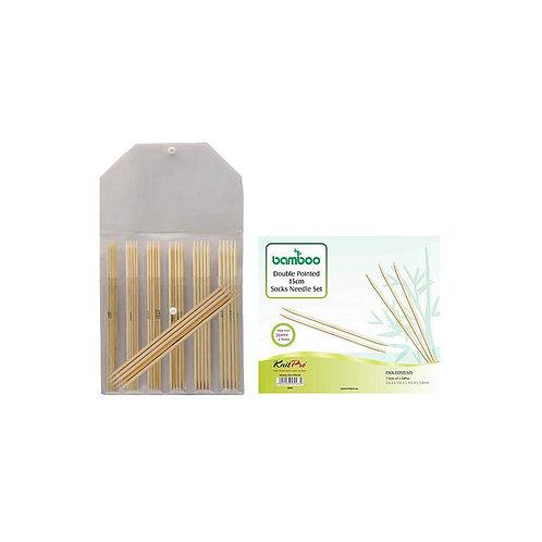 KnitPro Bamboo Sokkennaalden Set