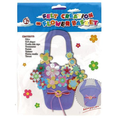 Vilt Pakket voor Kinderen Bloemenmand