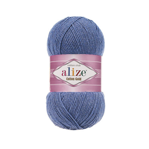 Alize Cotton Gold Blue Melange 374
