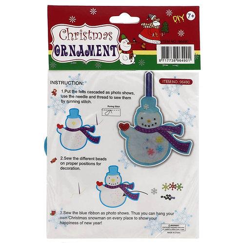 Vilt Pakket voor Kinderen Sneeuwpop Hanger