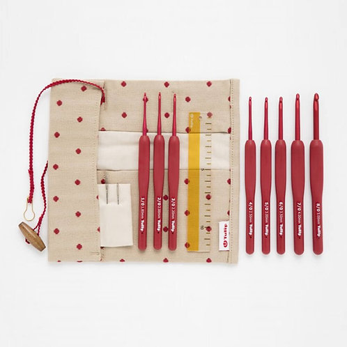 Tulip Etimo Red Haaknaalden Set Soft Grip