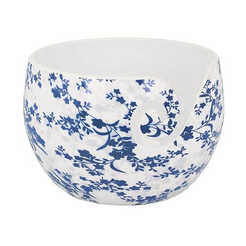 Scheepjes Yarn Bowl Blue Leaf Onbreekbaar 15 x 10 Cm