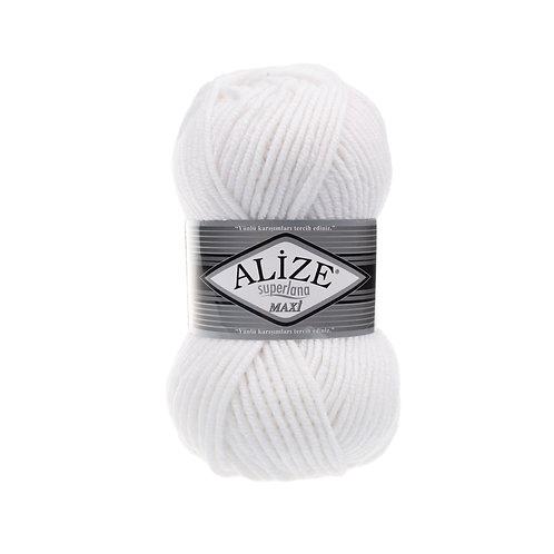 Alize Superlana Maxi White 55