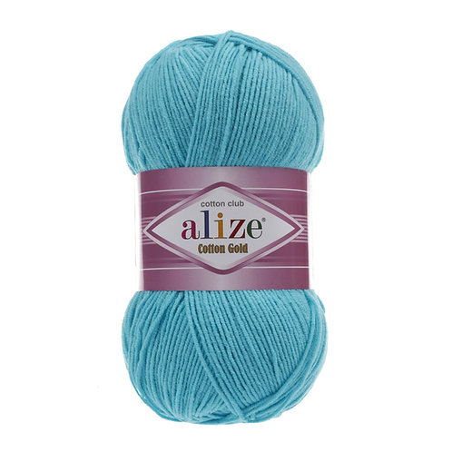 Alize Cotton Gold Turquoise 287