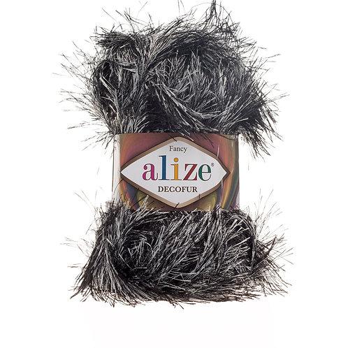 Alize Decofur Black-White 1378