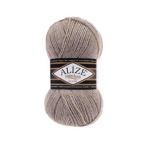 Alize Superlana Klasik Light Brown Melange