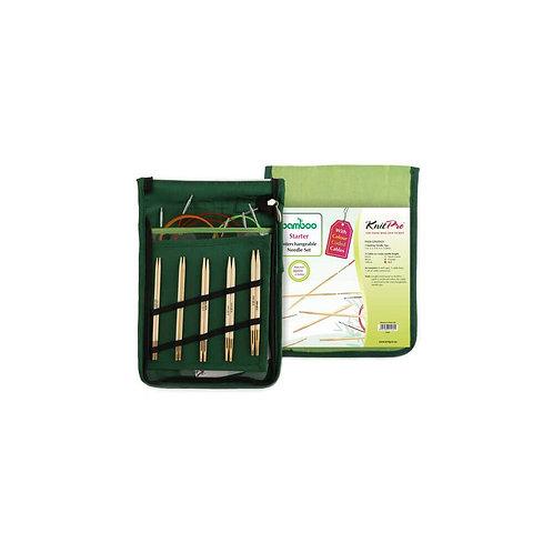 KnitPro Bamboo Verwisselbare Rondbreinaalden Starter Set